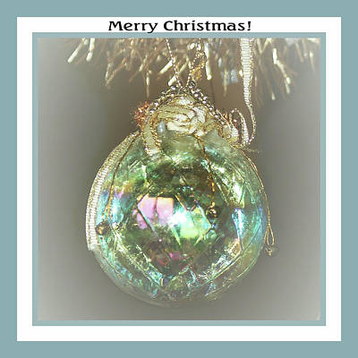 Photograph - Iridescent Glass Ornament by Ellen Barron O'Reilly