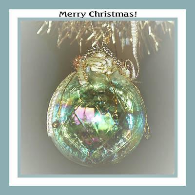 Photograph - Iridescent Glass Ornament by Ellen O'Reilly