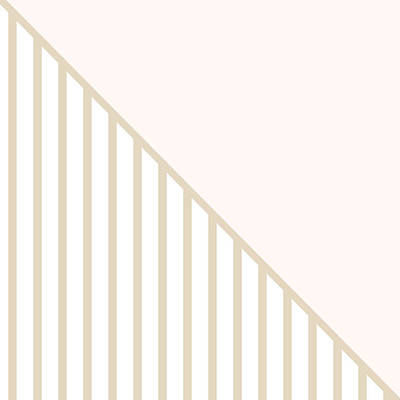 Soft Blush And Champagne Stripe Triangles Print by Linda Woods