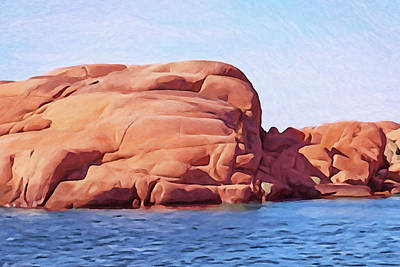Painting - Soft Cliffs by Lutz Baar