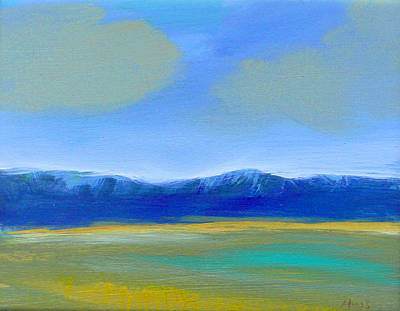 Wall Art - Painting - Soft Clouds by Sally Huss