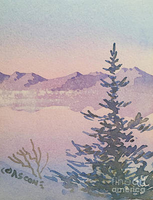 Painting - Soft Colors Of Winter by Teresa Ascone