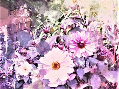 Digital Art - Soft Cosmos Garden by Nancy Pauling