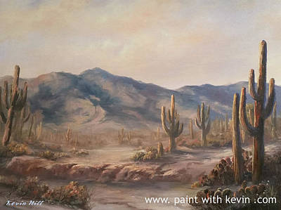 Kevin Hill Painting - Soft Desert Mountain by Kevin Hill
