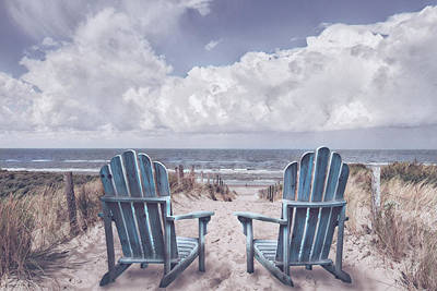 Photograph - Soft Dutch Blue by Debra and Dave Vanderlaan