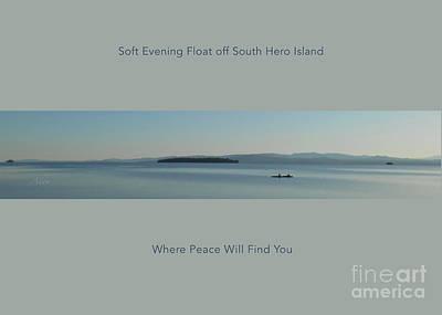 Photograph - Soft Evening Float Off South Hero Island Horizon Line Poster by Felipe Adan Lerma