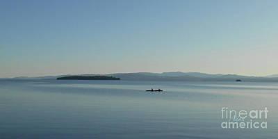 Photograph - Soft Evening Float Off South Hero Island Panorama by Felipe Adan Lerma