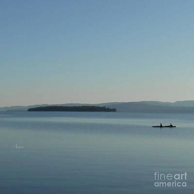 Photograph - Soft Evening Float Off South Hero Island Square by Felipe Adan Lerma