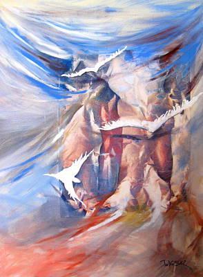 Painting - Soft Flight 2 by Jan VonBokel