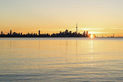 Photograph - Soft Gold Toronto Sunrise by Georgia Mizuleva