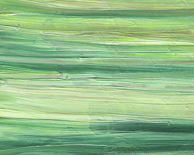Painting - Soft Green Organic Abstafor Interior Decor Viii by Irina Sztukowski