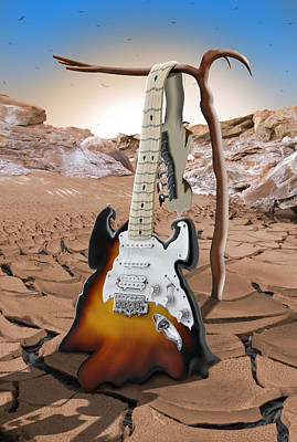 Soft Guitar 4 Art Print