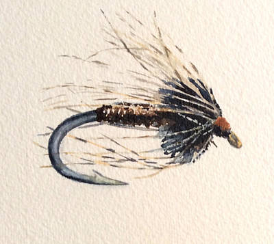 Painting - Soft Hackle Pheasant Tail by Marsha Karle