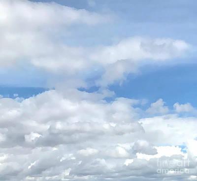 Digital Art - Soft Heavenly Clouds by Judy Palkimas