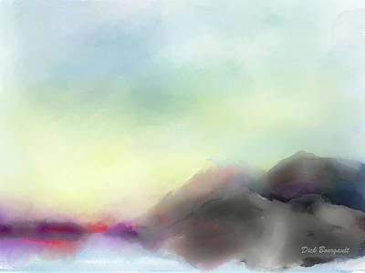 Painting - Soft Horizons by Dick Bourgault