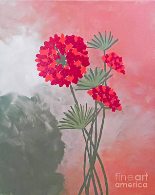 Soft Hydrangea With Sage Original by Jilian Cramb - AMothersFineArt