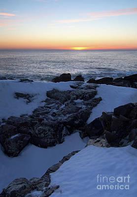 Photograph - Soft Light At Dawn, Ogunquit, Maine 20880-20883 by John Bald