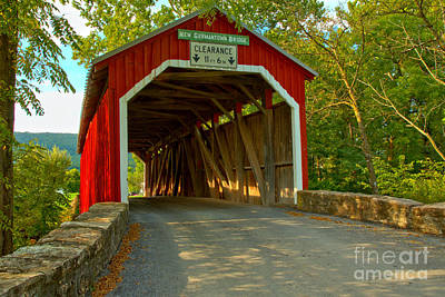 Photograph - Soft Light At The New Germantown Covered Bridge by Adam Jewell