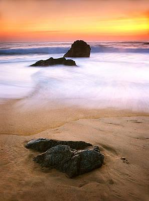 Mamiya Photograph - Soft Light On Garrapata Beach by Edward Mendes