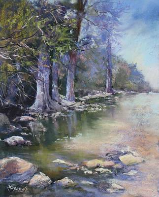 Painting - Soft Light On The Pedernales by Rae Andrews