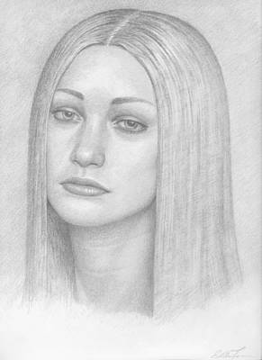 Female Drawings Drawing - Soft Lips by Eddie Torres