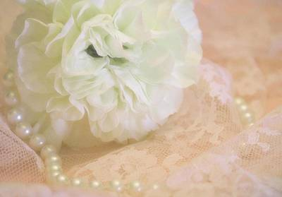Pearls Photograph - Soft Loveliness by The Art Of Marilyn Ridoutt-Greene