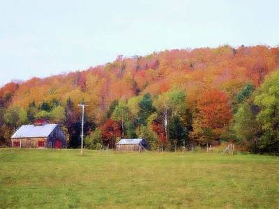 Photograph - Soft Maine Countryside  by Ellen Barron O'Reilly