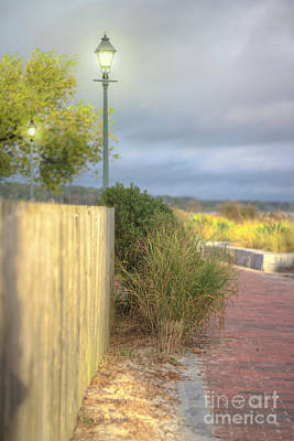 Photograph - Soft Morning Walk Yorktown Boardwalk by Karen Jorstad