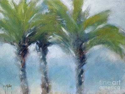 Painting - Soft Palms Trees Nature Sky by Mary Hubley