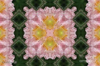 Digital Art - Soft Pink And White Angel's Choir Abstract by J McCombie