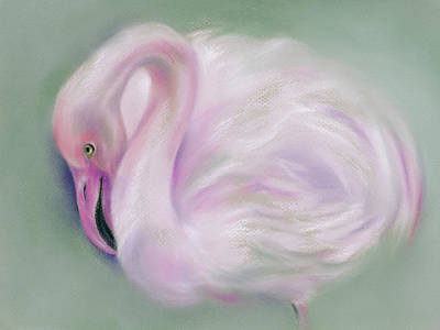Pastel - Soft Pink Flamingo by MM Anderson