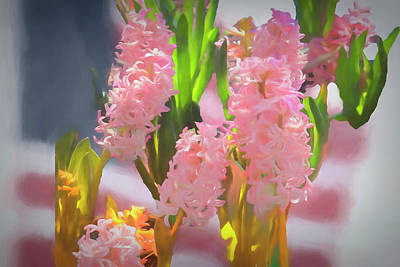 Digital Art - Soft Pink Hyacinths. by Rusty R Smith
