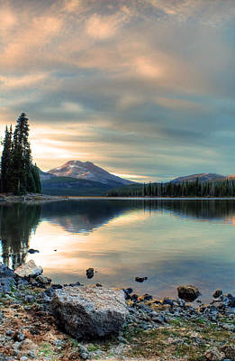 Photograph - Soft Pink Sky Over Sparks Lake by Tyra OBryant