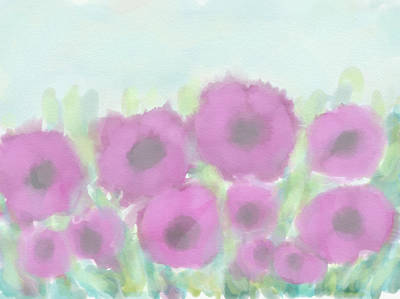 Digital Art - Soft Purple Flowers by Cristina Stefan
