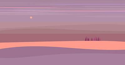 Digital Art - Soft Purple Landscape by Val Arie
