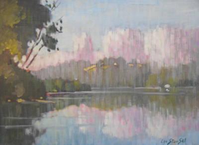 Soft Reflections Art Print by Len Stomski
