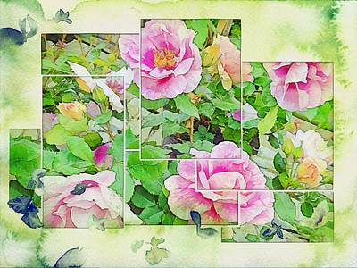 Digital Art - Soft Rose Fragments by Dorothy Berry-Lound