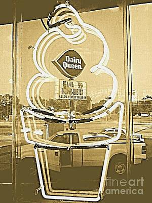 Cafeart Digital Art - Soft Serve Ice Cream Cone by Pamela Smale Williams