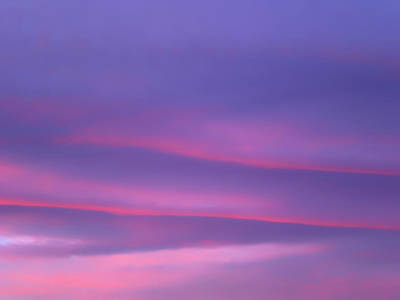 Photograph - Soft Shades Of Blue, Purple And Pink Clouds During Sunset by Barbara Rogers