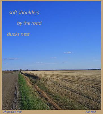 Digital Art - Soft Shoulder Spring Haiga by Judi and Don Hall