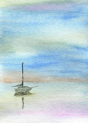 Painting - Soft Sky At Anchor by R Kyllo