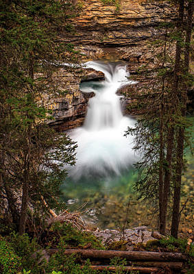 Print featuring the photograph Soft Smooth Waterfall by Darcy Michaelchuk