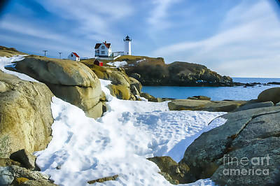 Photograph - Soft Snow At Nubble by Rick Bragan