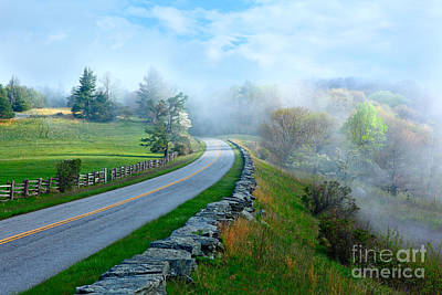Soft Spring Morning On Blue Ridge Parkway I Art Print
