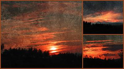 Photograph - Soft Sunset Collage 1 by Dorothy Berry-Lound