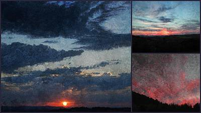 Photograph - Soft Sunset Collage 2 by Dorothy Berry-Lound