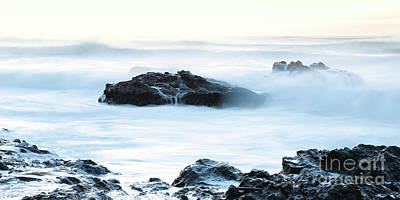 Strong America Photograph - Soft Texture Waves by Masako Metz