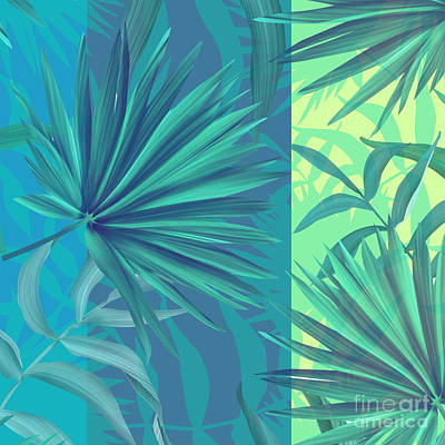 Leaf Green Painting - Soft Tropic  by Mark Ashkenazi