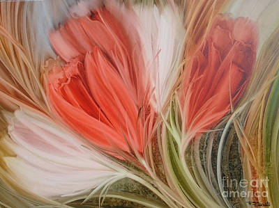 Painting - Soft Tulips by Fatima Stamato