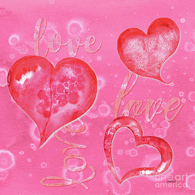Notes Painting - Soft Valentine by Debbie DeWitt